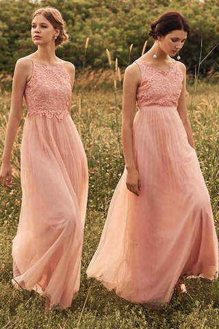 Carida Tulle Maxi Dress in Pink