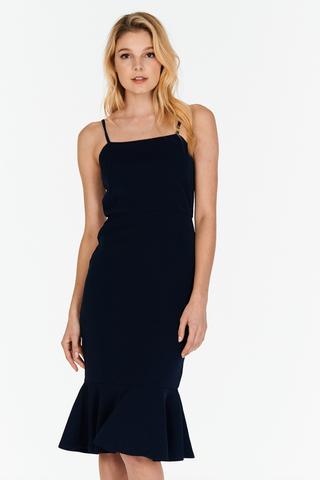 Juliane Midi Dress in Navy