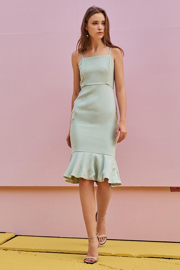 *Restock* Juliane Midi Dress in Spring Mint