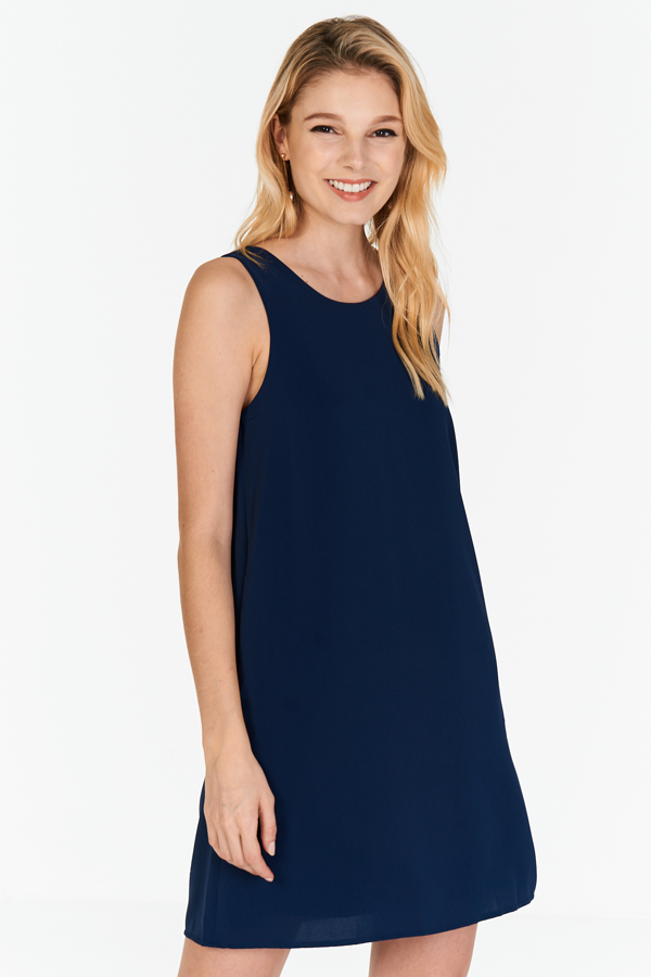 Claude Two Way Dress in Navy