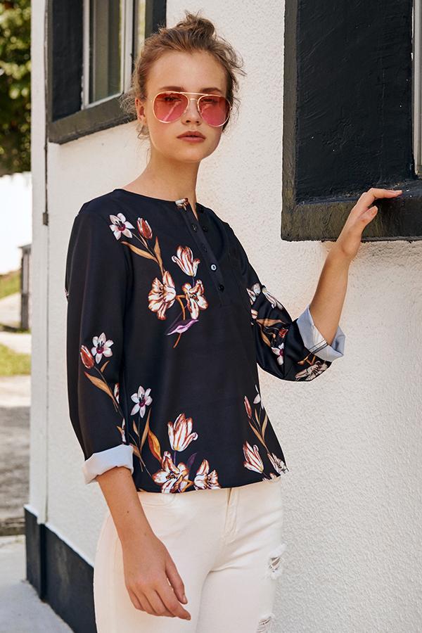 Harleigh Floral Printed Top