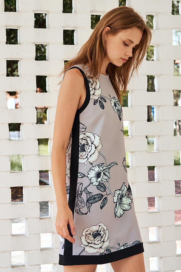 Micaela Floral Printed Dress