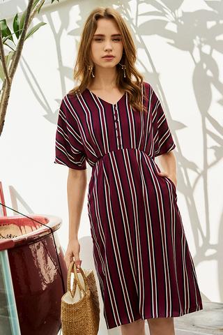 Taliyah Stripes Midi Dress