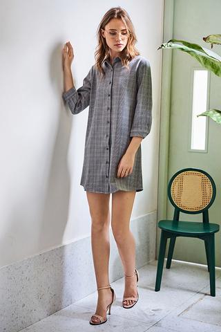 Milae Gingham Shirt Dress