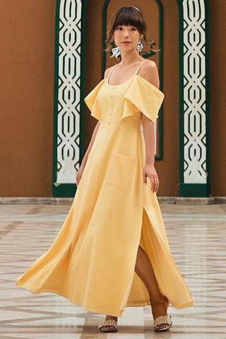 *Restock* Osiris Crochet Maxi Dress in Daffodil