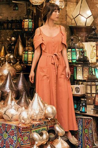 Osiris Crochet Maxi Dress in Sunkiss