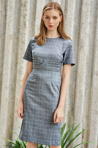 *W. By TCL* Dayana Checkered Sleeved Dress