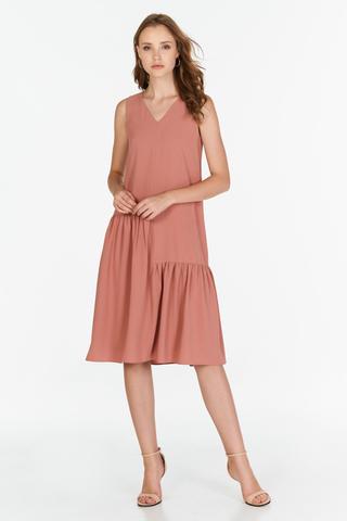 Middleton Midi Dress in Pink