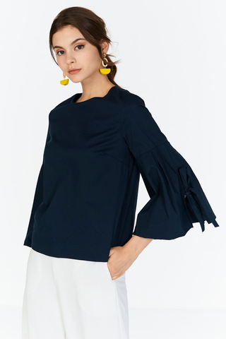 Kendell Ruffled Sleeves Top