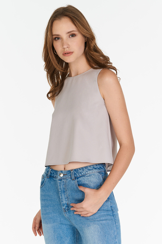 Sage Top in Grey