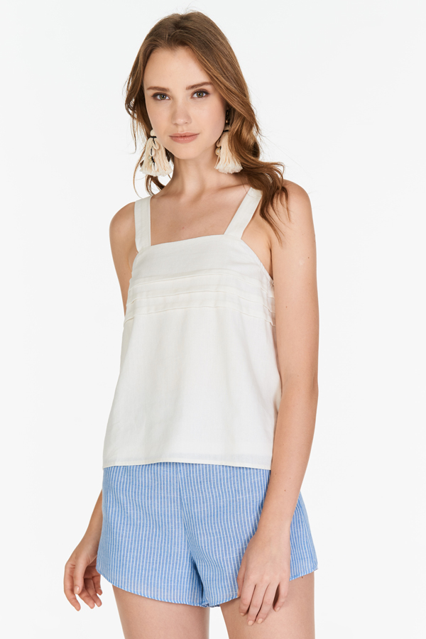 Unas Shorts in Blue Stripes