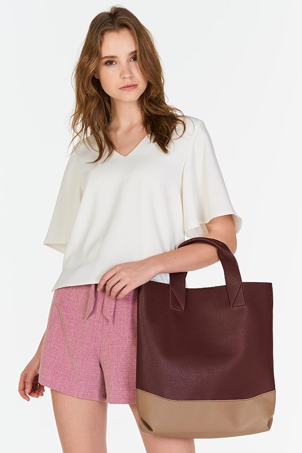 Kaela Colourblock  Bag in Russet  Brown