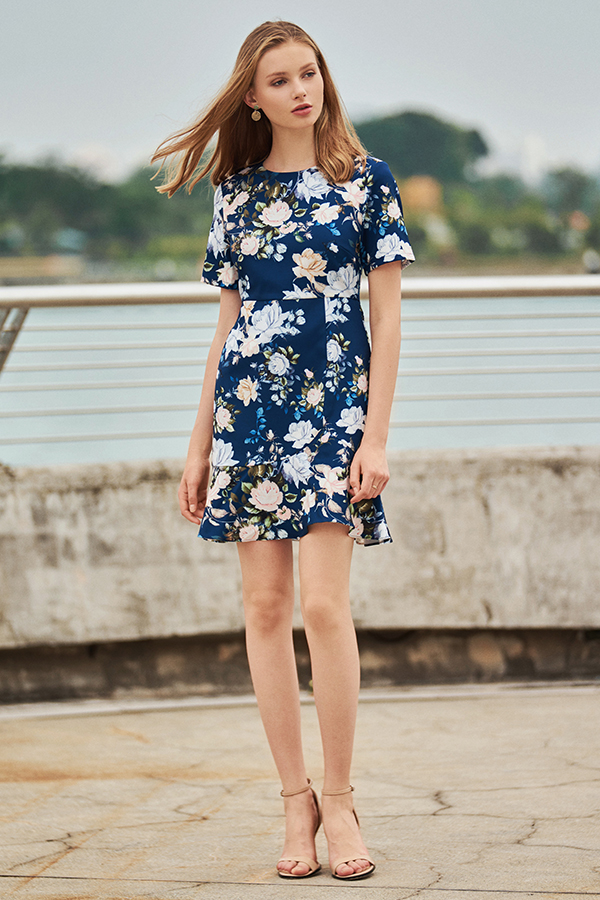 Delisha Floral Printed Dress
