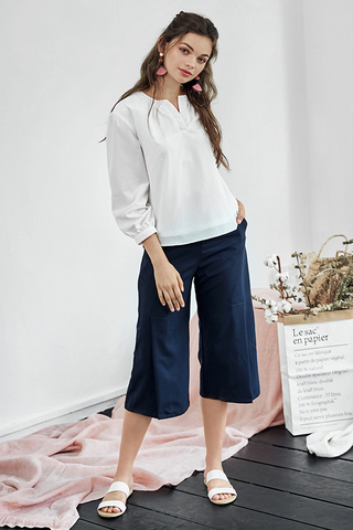 Joie Slit Culottes in Navy