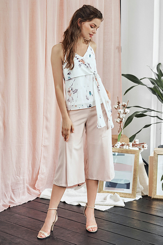Joie Slit Culottes in Light Pink