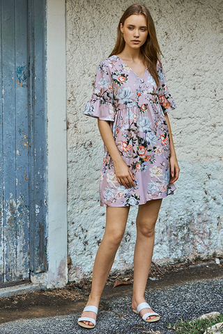 Ariella Floral Printed Dress