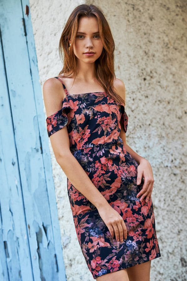 Alania Floral Printed Dress