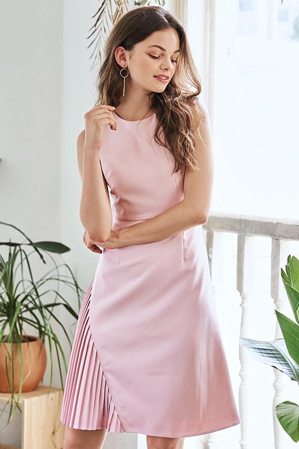 Kelise Side Pleated Dress
