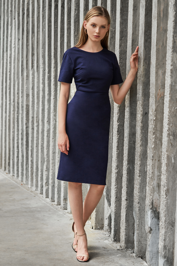 *W. By TCL* Jourdyn Dress in Navy