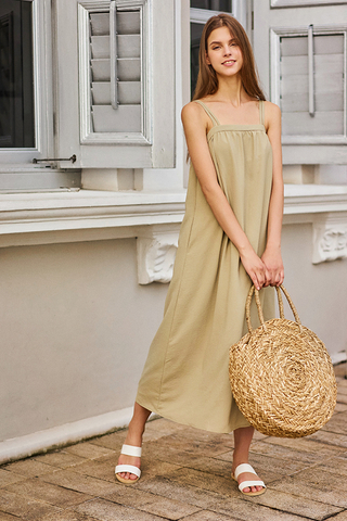 *Restock* Brilynn Maxi Dress in Slate Green