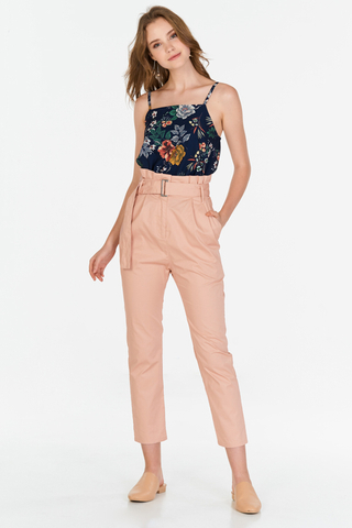 Evon Paperbag Pants in Pink