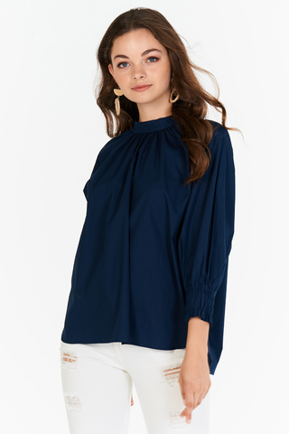 Corra Top in Navy