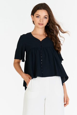 *Restock* Estelle Top in Navy