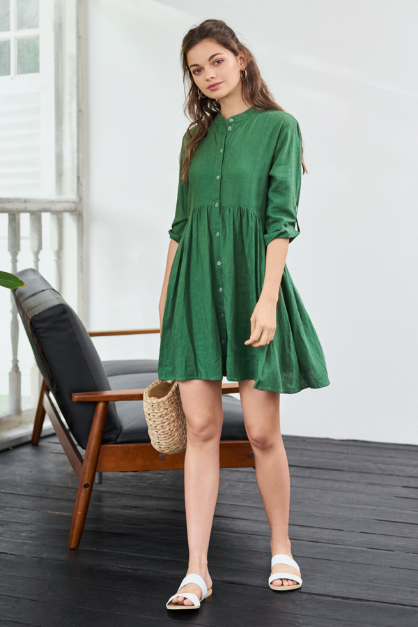 *Backorder* Loise Dress in Green