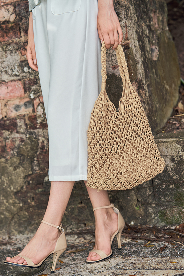 *Restock* Mayra Tote Bag in Beige