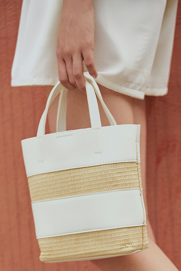 *Backorder* Raegan Bag in White