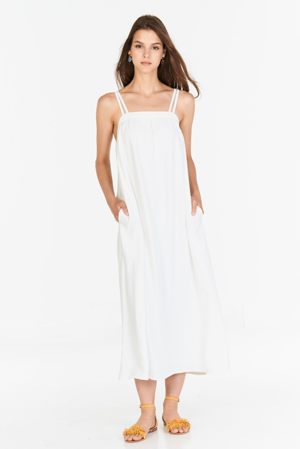 Brilynn Maxi Dress in White (M - XL)
