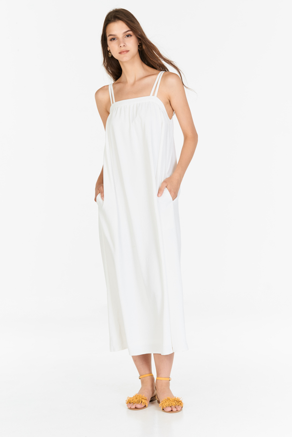 *Backorder* Brilynn Maxi Dress in White
