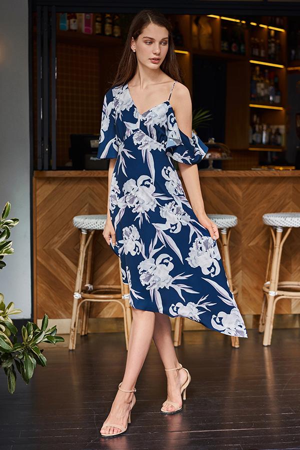 Emeryn Floral Midi Dress