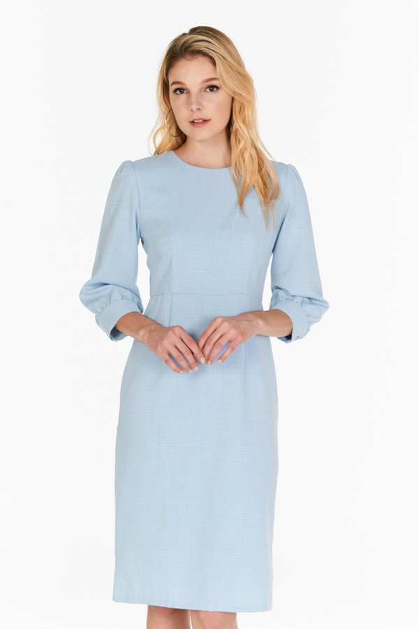 *W. By TCL* Jorine Sleeved Dress in Blue