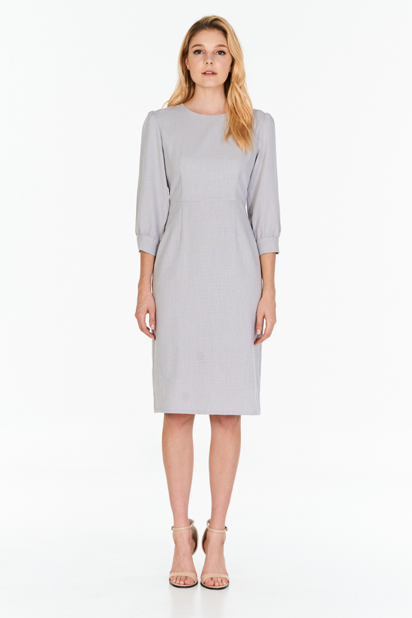*W. By TCL* Jorine Sleeved Dress in Grey