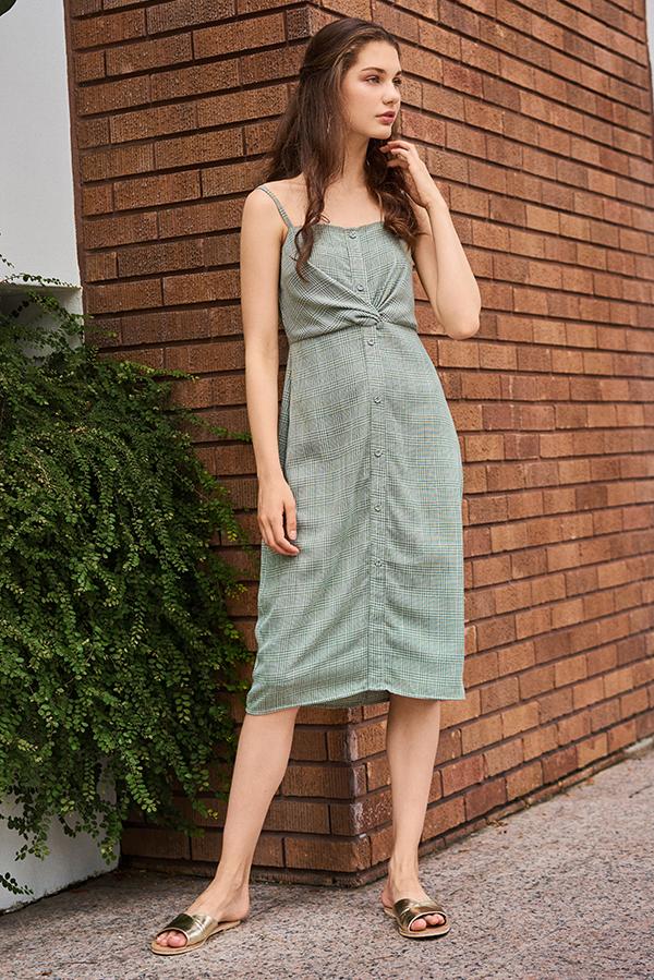 Jemma Houndstooth Printed Dress
