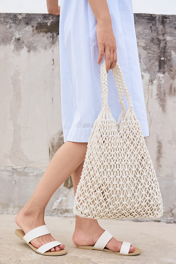 *Restock* Mayra Tote Bag in Cream