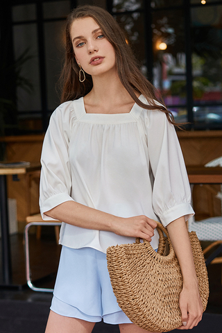 Carila Square Neck Top in White