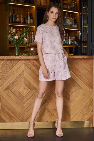Sharmaine Tweed Shorts in Pink