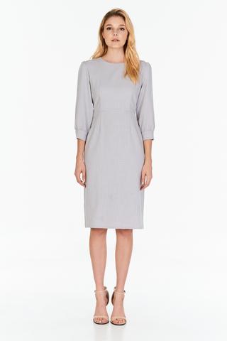 *W. By TCL* Jorine Sleeved Dress in Grey