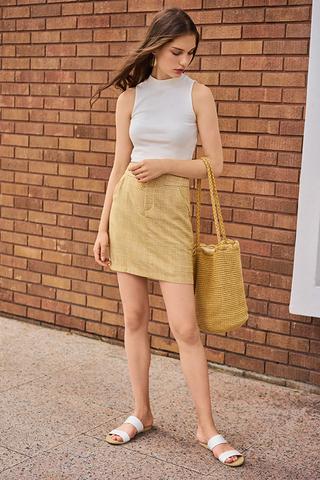 Jemma Houndstooth Printed Skirt