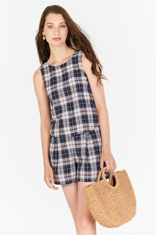 Alesia Two-Way Plaids Top