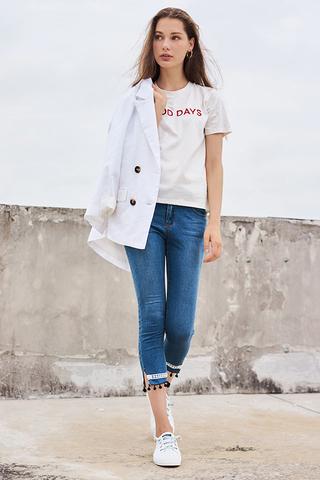 Coliase Pom Pom Jeans