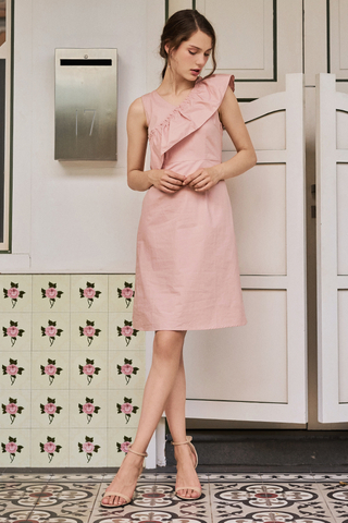 Marlin Ruffled Dress in Pink