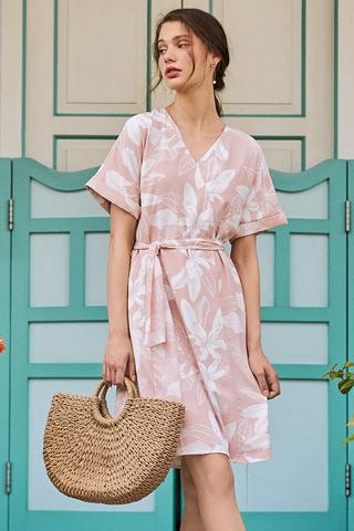 *Backorder 2* Collette Floral Printed Dress With Sash