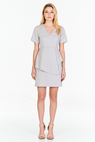 *W. By TCL* Jorine Peplum Dress in Grey