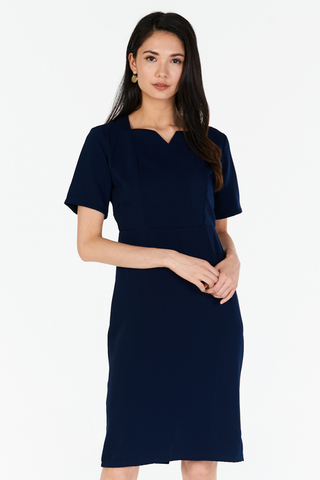 *W. By TCL* Kareen Sleeved Dress in Navy
