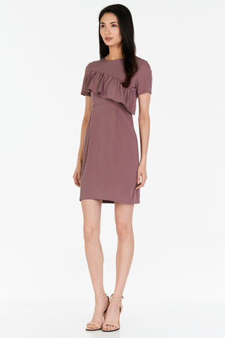 *W. By TCL* Venizia Ruffled Dress in Dusky Orchid