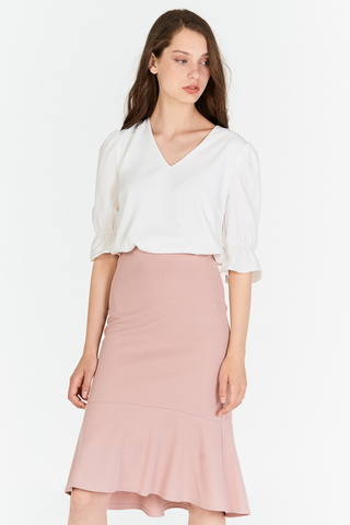 Socrates Dropwaist Skirt in Pink