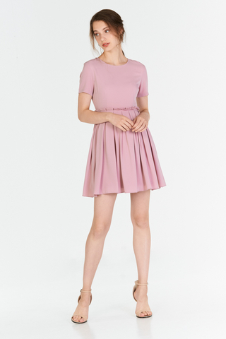 Averine Paperbag Dress in Pink